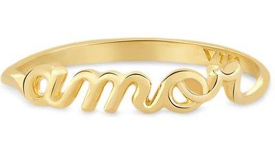 anel amor ouro amarelo