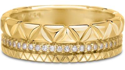 anel icona ouro amarelo diamantes médio