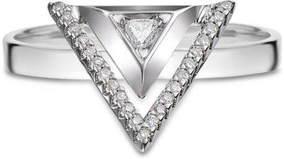 anel ouro branco diamantes grande