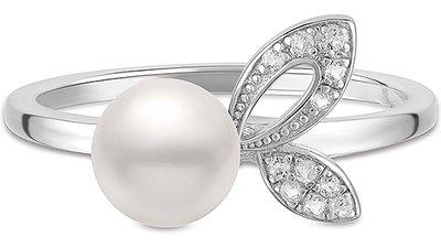 anel prata pérola topázios