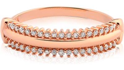 anel ouro rosé e diamantes