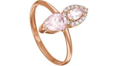 anel gotas ouro rosé quartzo rosa diamantes