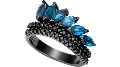 anel prata espinélios topázios london