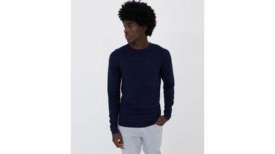 suéter liso detalhe grid