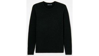 suéter texturizado diagonal