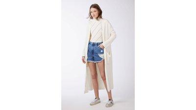 cardigan tricot longo mini argolas baunilha  g
