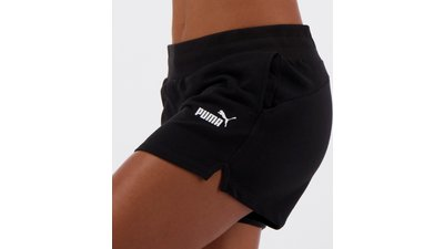 short moletom puma essentials sweat feminino preto