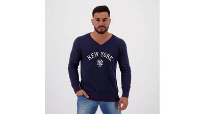 suéter new mlb new york yankees tricô marinho