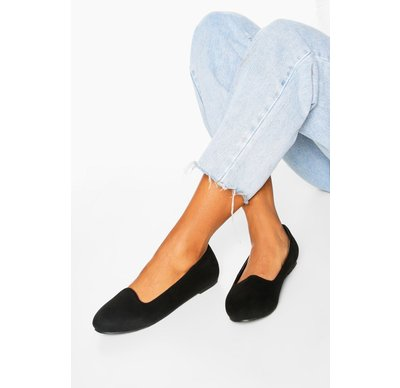 Ballerine Nero donna Ballerine basic a pantofola, Nero