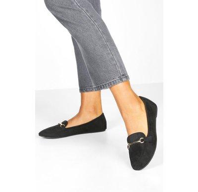 Ballerine Nero donna Ballerine stile pantofole con barretta, Nero