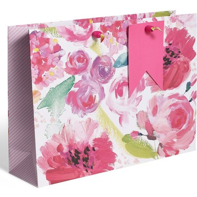 Painted Floral Large Gift Bag multi