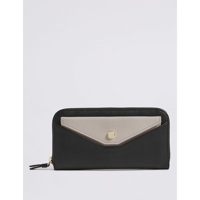 Faux Leather Pull Out Pouch Purse with Cardsafe™  black mix