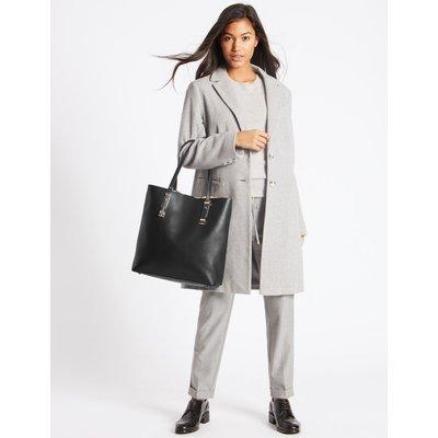 Faux Leather Carry All Shopper Bag black