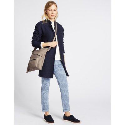 Faux Leather Messenger Bag grey