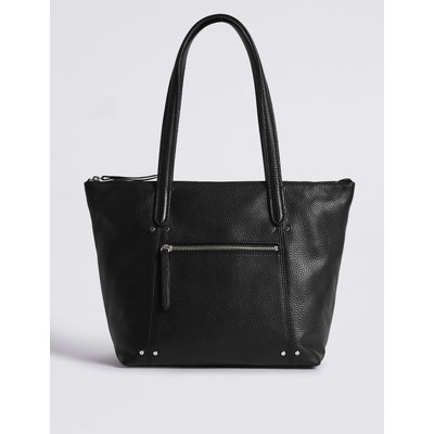 Leather Tote Bag black