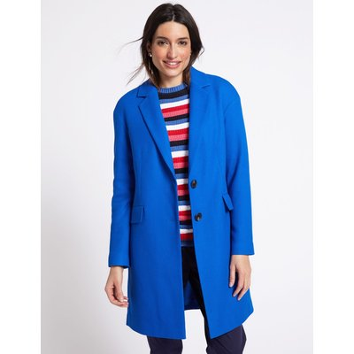 Textured Coat bright blue