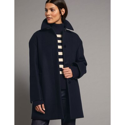 Wool Rich Peacoat navy