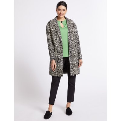 Cotton Rich Animal Print Coat black mix