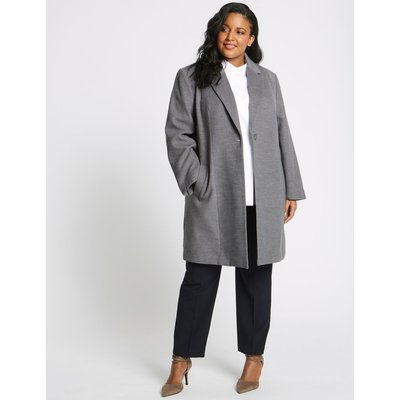 CURVE Single Button Coat grey marl