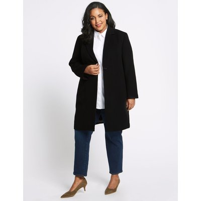 CURVE Single Button Coat black