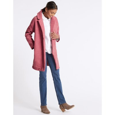 Open Front Chuck On Coat raspberry