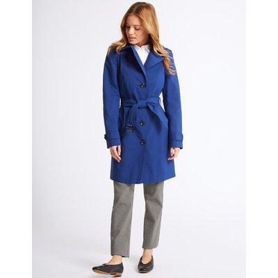 PETITE Trench Coat with Stormwear™ cobalt