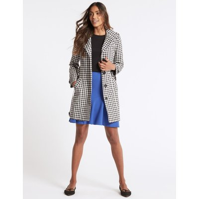 Gingham Trench Coat with Stormwear™ black mix