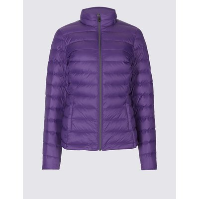 Lightweight Down & Feather Jacket purple