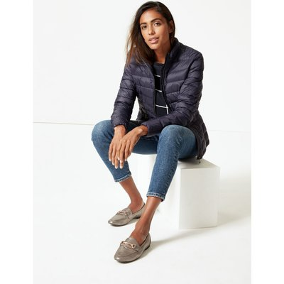 Lightweight Down & Feather Jacket navy