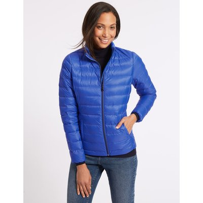 Lightweight Down & Feather Jacket royal blue