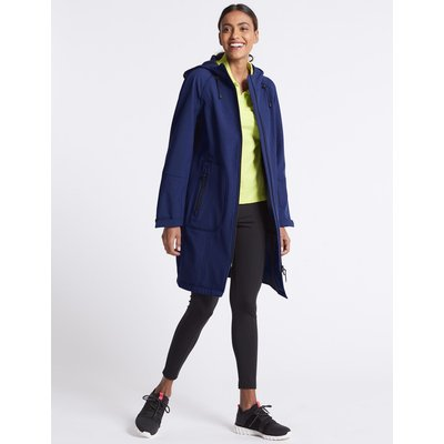 Funnel Neck Coat with Stormwear™ bright blue