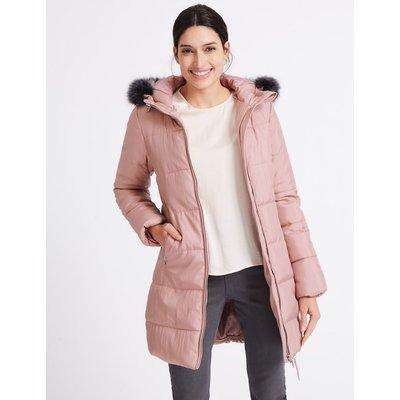 Metallic Waist Padded Coat with Stormwear™ pink