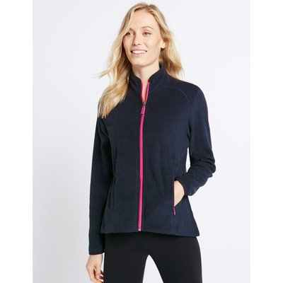 Funnel Neck Fleece Jacket navy