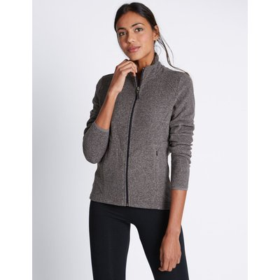 Funnel Neck Fleece Jacket grey