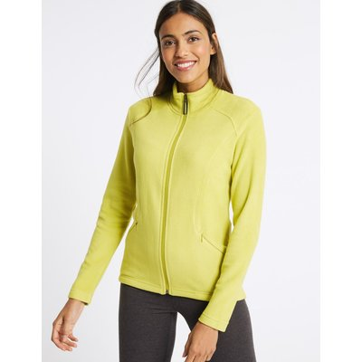 Panelled Fleece Jacket lime