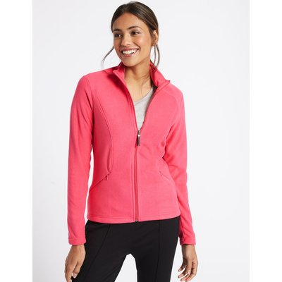 Panelled Fleece Jacket hot pink
