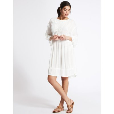 Crochet Kaftan white mix