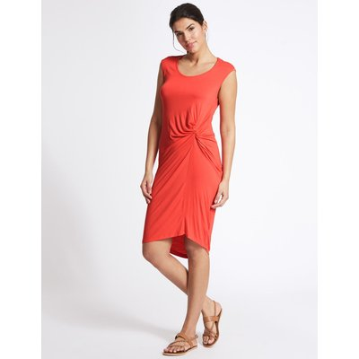 Twist Knot Detail Beach Dress red