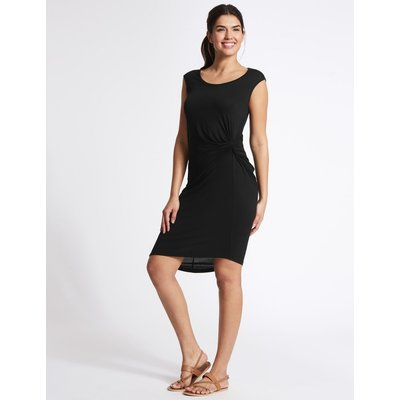 Twist Knot Detail Beach Dress black
