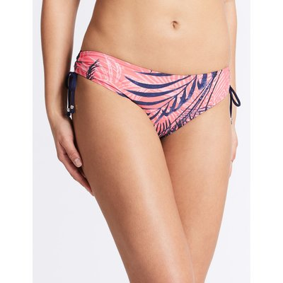 Printed Hipster Bikini Bottoms coral mix