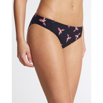 Bird Print Hipster Bikini Bottoms black mix