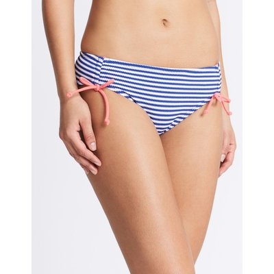 Striped Hipster Bikini Bottoms blue mix