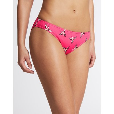 Bird Print Hipster Bikini Bottoms pink mix