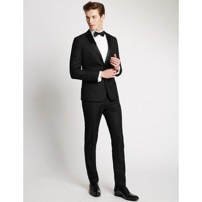 Black Textured Modern Slim Fit Jacket black