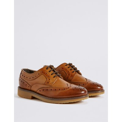 Kids' Leather Brogue Shoes brown