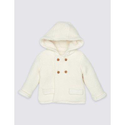 Pure Cotton Hooded Cardigan cream