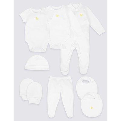 8 Piece Unisex Pure Cotton Outfit white mix