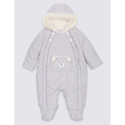 Faux Fur Bear Snowsuit with Stormwear™ winter white