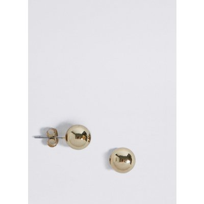 M&S Collection Gold Plated Ball Stud Earrings