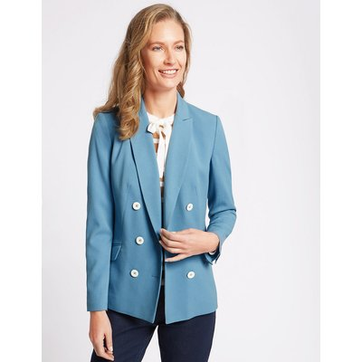Classic Double Breasted Blazer, Blue